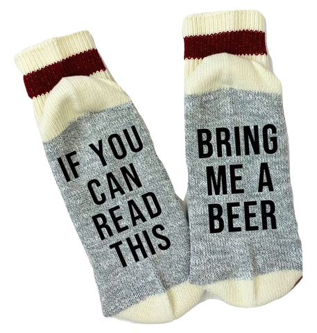 Chatting Socks - Bring Me A Beer - Taste Of Creativity CO.