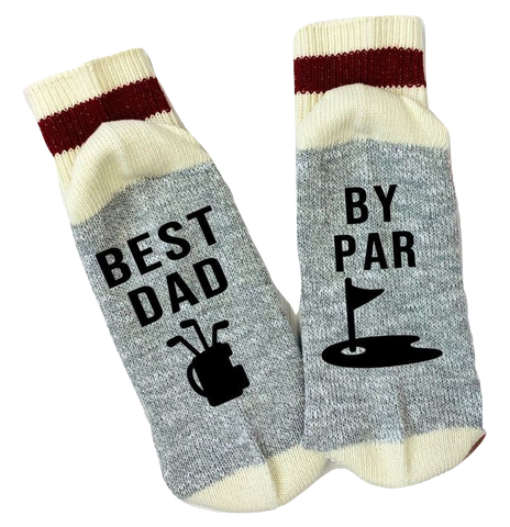 Chatting Socks - Best Dad, By Par - Taste Of Creativity CO.