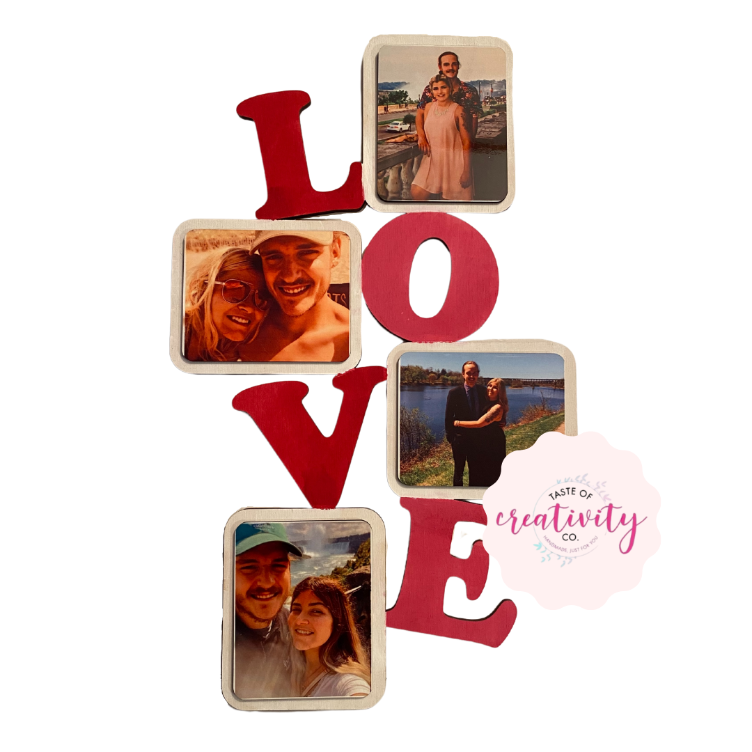 Wood Sign - LOVE Photo Cut-Out