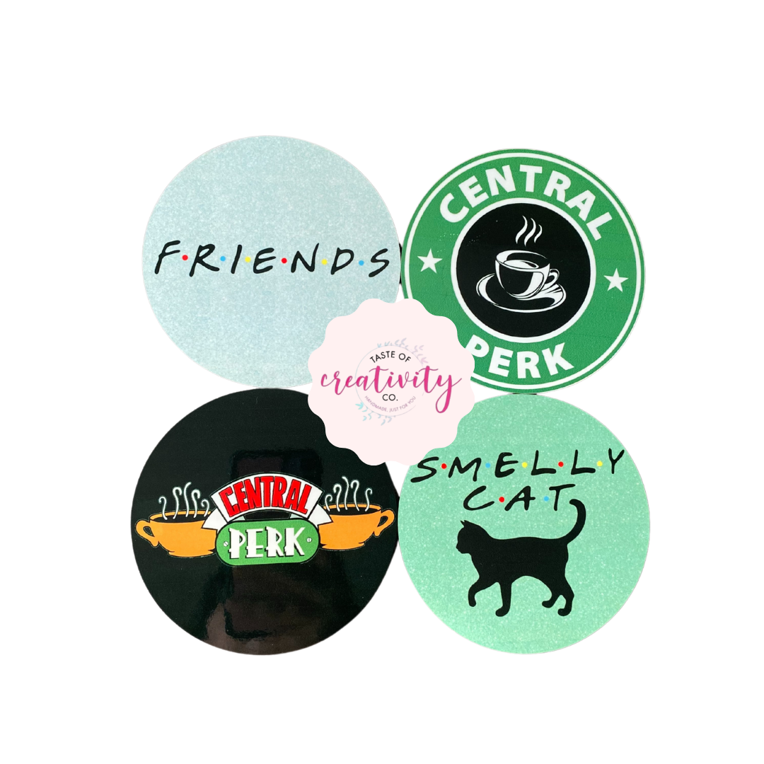 Sublimated Coasters - FRIENDS Inspired (4pk.)