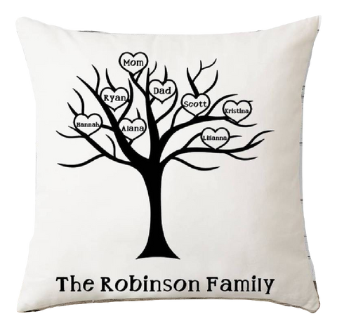 Pillow - Family Tree - Taste Of Creativity CO.