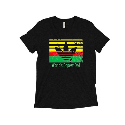 T-Shirt - World's Dopest Dad (Yellow, Red and Green Version) - Taste Of Creativity CO.