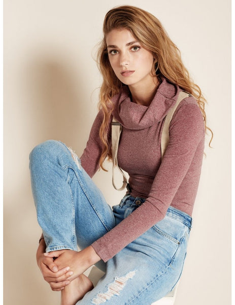 basic sweater wine red