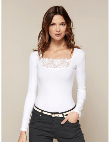 Lace Square Neck Top
