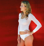 white sheer fabric shirt pantyhose
