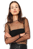 Completely Sheer Women Mesh Net Top