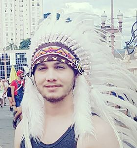 N93- Extra Large White  Feather Headdress (43  inch long )/ war bonnet.