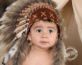 N14- For 9 to 18 month Toddler / Baby: black and white  Headdress for the little ones !,