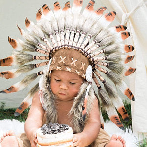 a07891dacd N04- For 9 to 18 month Toddler / Baby: three colors Brown Native American