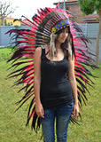 Z15 . Extra Large Red Feather Headdress.