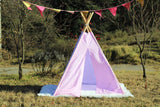 Teepee Tent Pink Circles.. POLES NOT INCLUDED