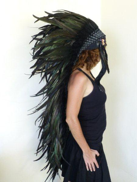 Z17 . Extra Large Natural Feather Headdress.