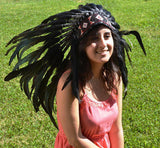 PRICE REDUCED X09 Black feather Headdress.