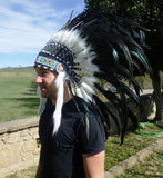 X24 Stunning Indian Feather Headdress Natural color