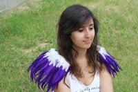 Shoulder Wings feathers: purple  and white