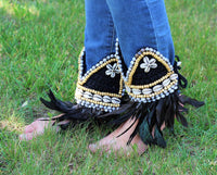 Cover Boots, OverBoots with shells and feathers