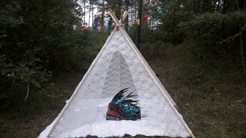 Big Teepee Tent White Lacy . Tipi Tent. POLES NOT INCLUDED. & Big Teepee Tent Colorful . Tipi Tent. 5 POLES INCLUDED ...