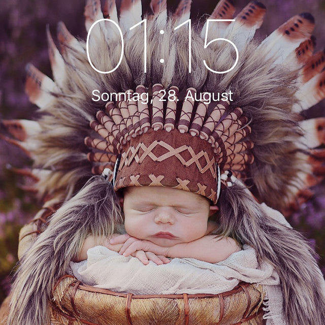 PRICE REDUCED - K03 For 0 to 9 months  Baby / Newborn : Brown Headdress for the little ones !