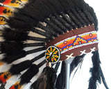 X14 Three colors  Indian Style Feather Headdress / warbonnet double feather (30 inch / 75 cm)