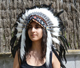 X24 - Stunning Indian Headdress Natural rooster feathers