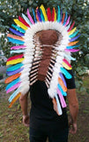 Y14 Medium Colorful  Feather Headdress