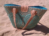 Summer basket with Green Crochet