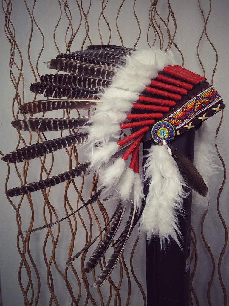 X27 natural colour turkey Feather Headdress  / Warbonnet..