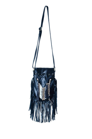 N43P- Black Indian leather Handbag, Native American Style bag. Crossbody bag