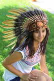 PRICE REDUCED N61- Golden Feather Headdress