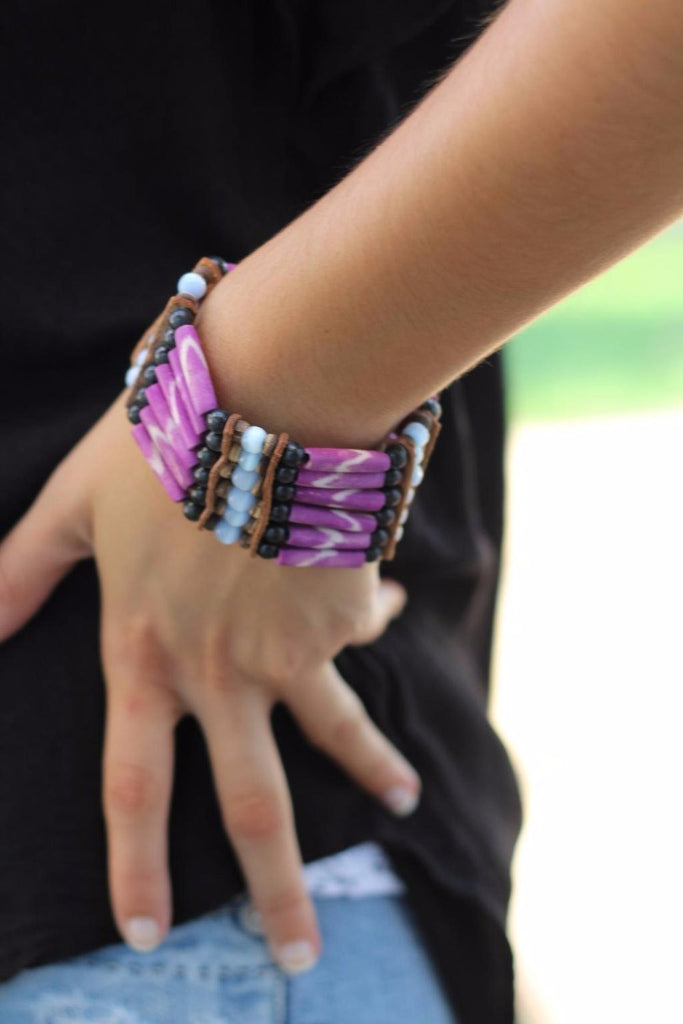 Purple Bone Bracelet,