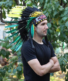 PRICE REDUCED X48 Rasta Spirit Colorful Feather Headdress
