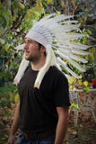 X21 White Feather Headdress for adult size