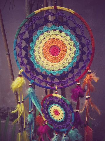 N49- Rainbow Crochet Dream Catcher