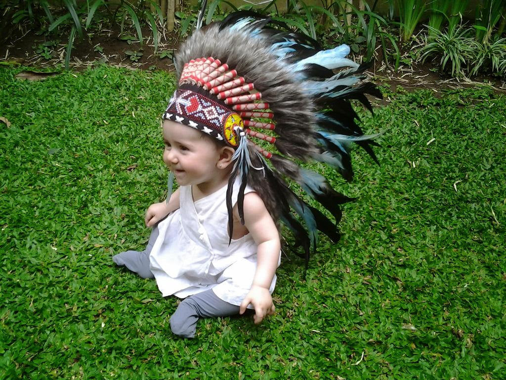 N03- For 9 to 18 month Toddler / Baby: Turquoise Headdress for the little ones !