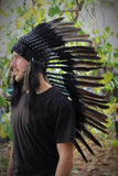 N73- Medium Black Feather Headdress