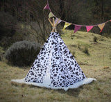 tipi / tepee / tipi / teepee Tent Cow Motive . 4 POLES INCLUDED