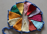 Garland Flag Crochet . Nursery Decor. Wall hanging decoration.