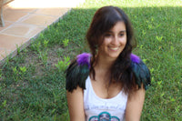 READY FOR HALLOWEEN . Shoulder Wings feathers: black and purple