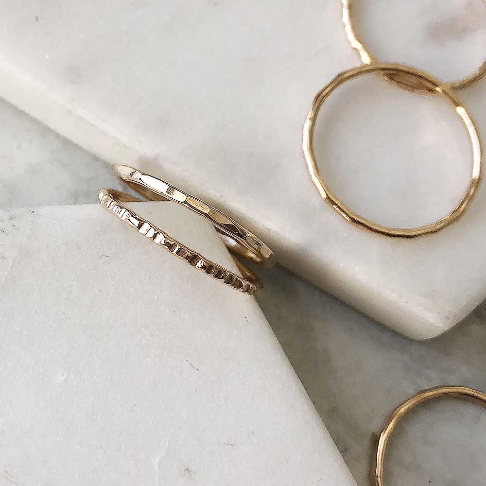 strut jewelry gold fill stacking rings