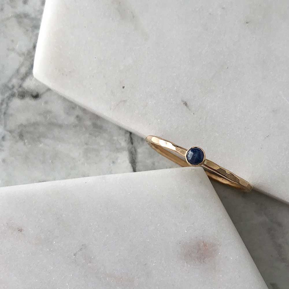 strut jewelry petite sapphire stacking ring 14k gold fill