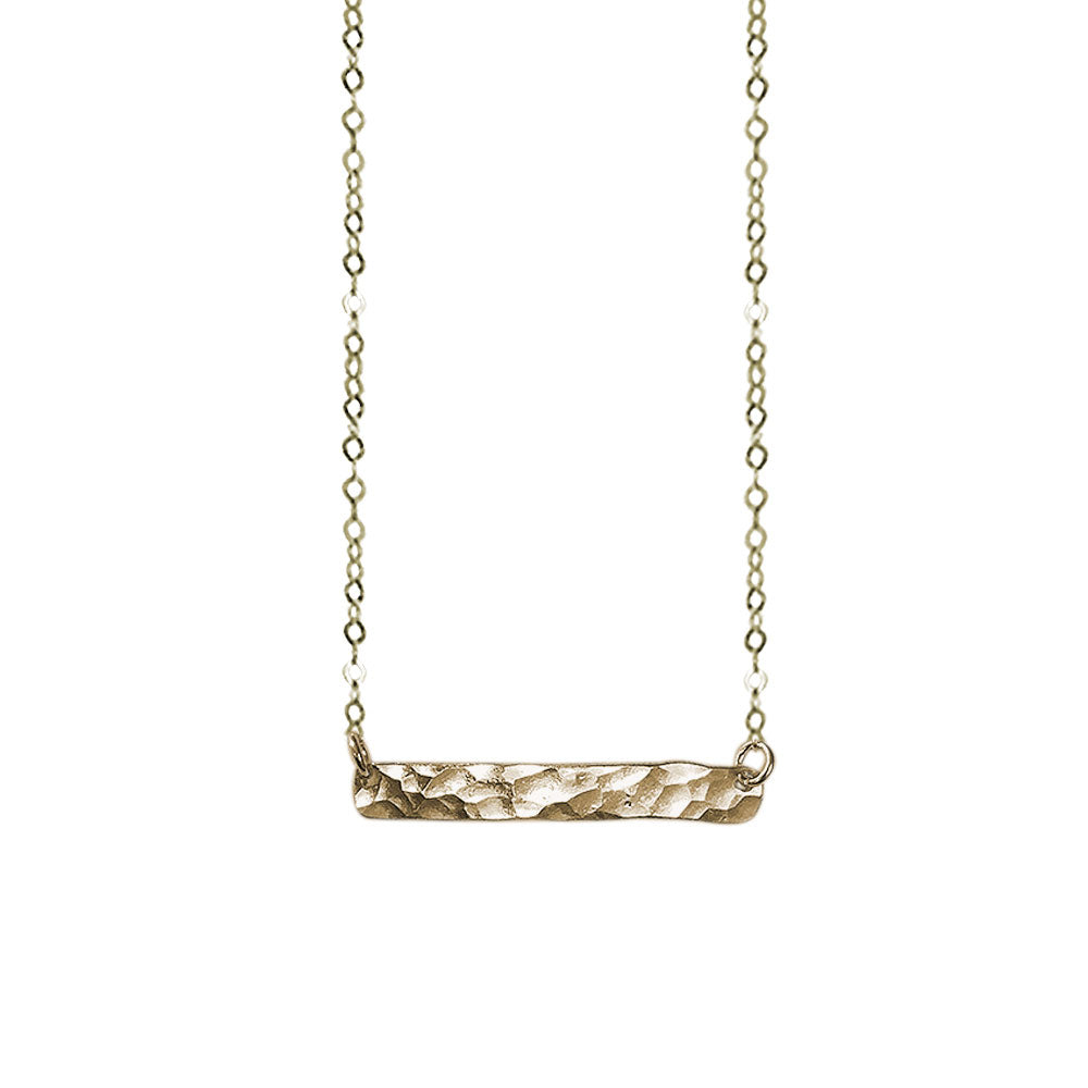 strut jewelry / Mini Bar Necklace - Gold-fill