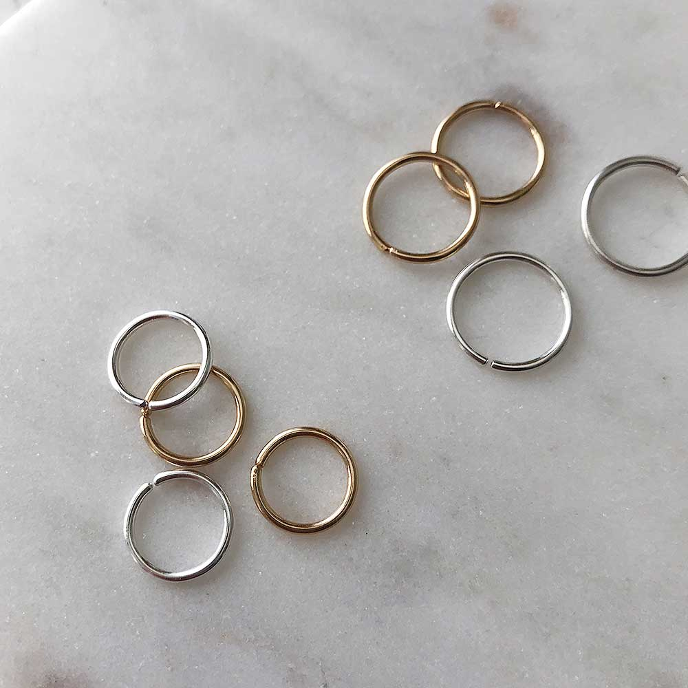 strut jewelry smooth sleeper hoop earrings