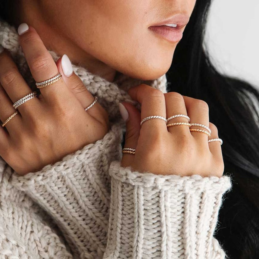 Twist Stacking Rings