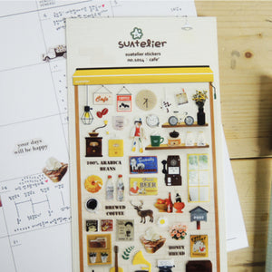 Suatelier Stickers - 1014 Cafe