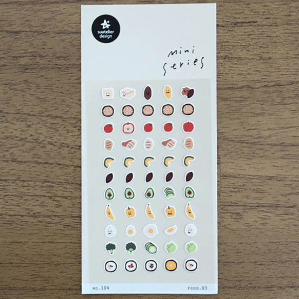 Suatelier Mini Series Stickers - 104 Food 03