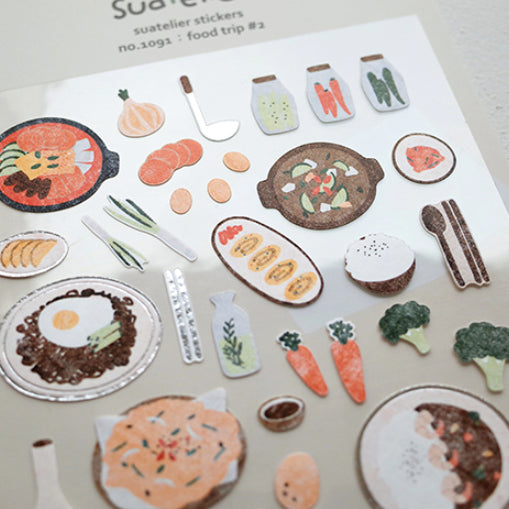 Suatelier Stickers - 1092 Food Trip #2