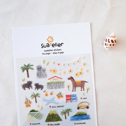 Suatelier Stickers - 1092 Stay In Jeju