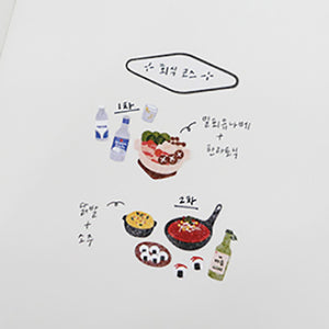 Suatelier Stickers - 1109 Food Trip 3