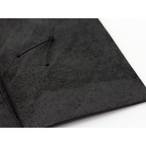 Traveler's Notebook Black - Regular Size - Leather Journal Notebook Kit