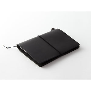 Traveler's Notebook Black - Passport Size - Leather Journal Notebook Kit